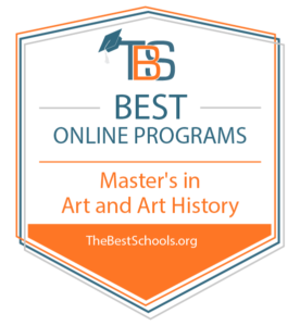 Best Online Programs for Master's in Art and Art History by TheBestSchools.org Badge